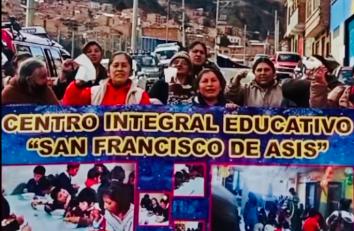 Proyecto de nutrición del Centro Integral San Francisco de Asís en La Paz (Bolivia)